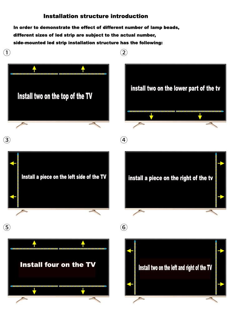 """37""""inch led tv edge backlight strip lamps  Aluminum Plate  for 37inch lcd led monitor tv back light 420mm"""
