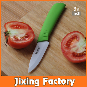 "TJC-030 Ceramic Paring Knife 3"" White Blade by Timhome Manufacturer"