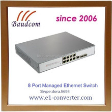 industrial 8-port 10/100/1000 poe+2x1000-x sfp network managed poe ethernet switch