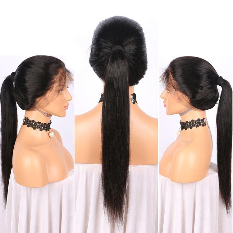 Campana fornitura Professionale 26 pollice parrucca di capelli umani 26 pollice brasiliana del merletto dei capelli umani di remy dei capelli umani coda di cavallo 22 pollice parrucca anteriore