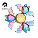 2017 New EDC toy 3 bats rainbow alloy fidget hand spinner for wholesale