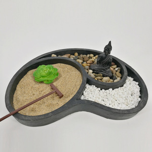 Zen Fine Sand Real Rocks Relaxing Rake Garden Kit Tabletop