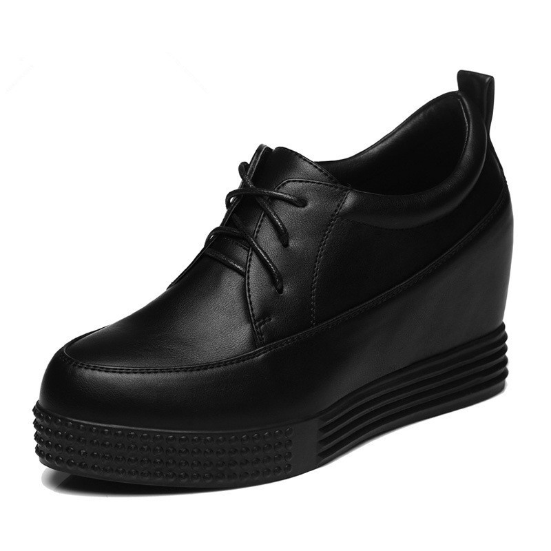85d1ba81 Get Quotations · 2015Spring New Oxfords Lace-Ups Women's Shoes Genuine  Leather Black Casual Comfortable Flats for Women