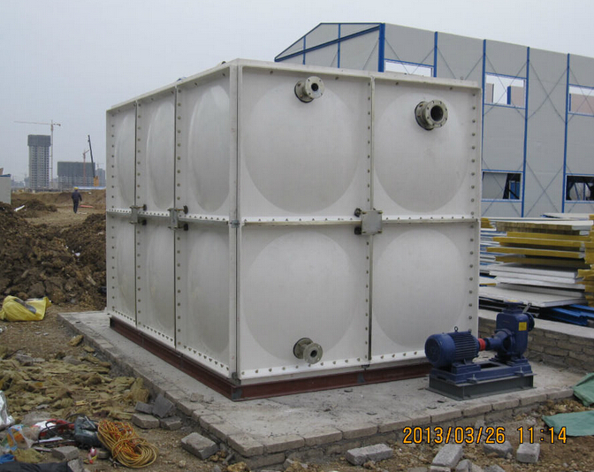 roof mounted FRP panels assembled water tank for fire fighting water storage