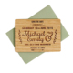 Traditional Pop Up Popular Laser Cut Simple Design Wedding Invitation Card