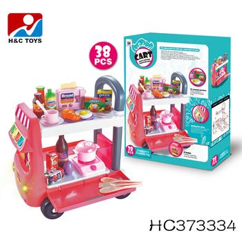 Childrenu0027s favorite toy multi-function tableware cart kids kitchen play set toy HC373334  sc 1 st  Alibaba & Childrenu0027s Favorite Toy Multi-function Tableware Cart Kids Kitchen ...
