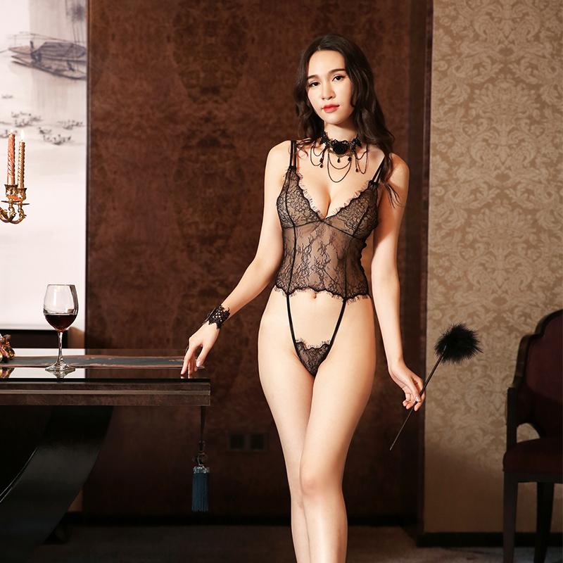 f69a528b2305 Transparente caliente nuevo diseño mujer Tanga de encaje de lencería Sexy  ropa interior de las señoras