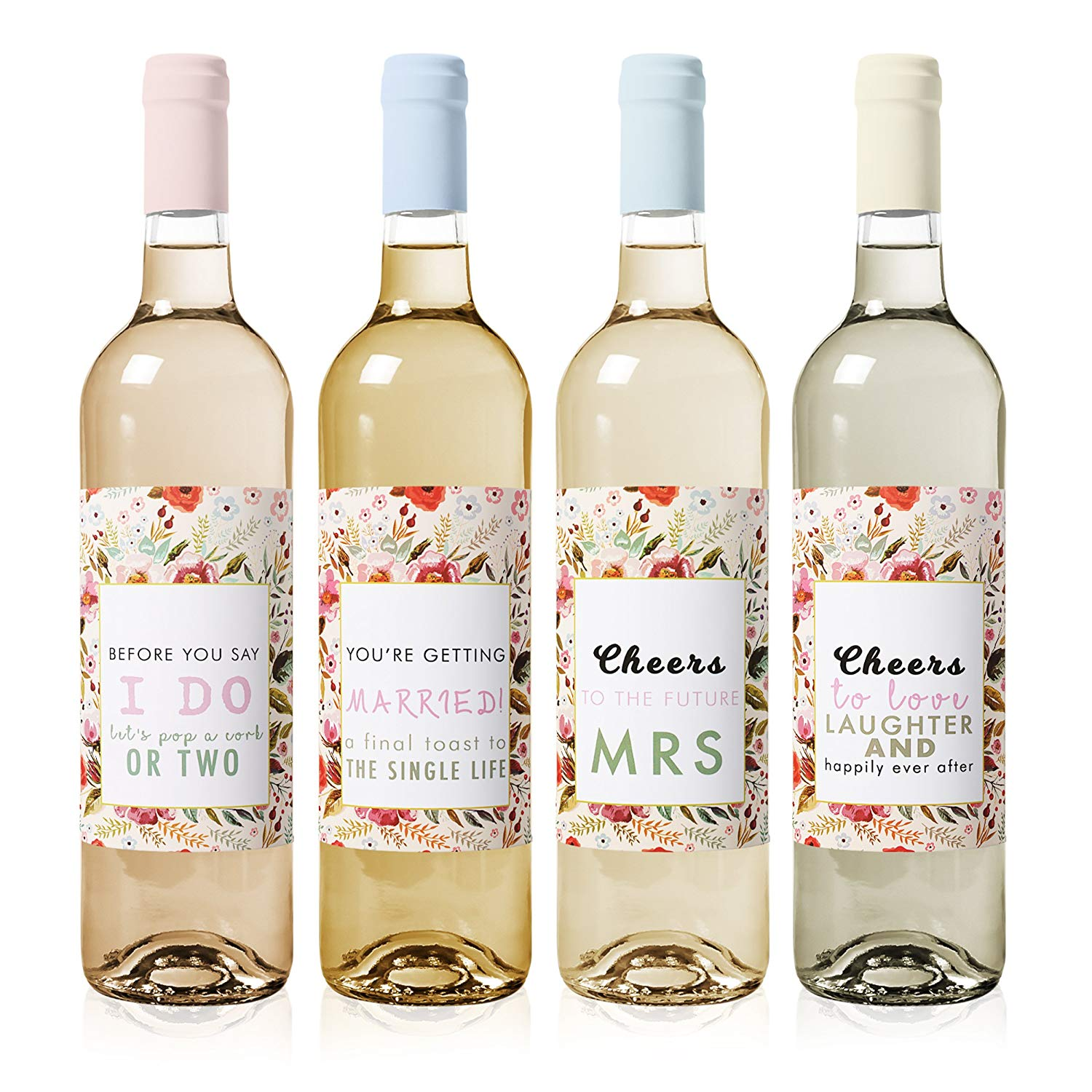 get quotations bachelorette party decorations wine labels 4 pack waterproof and easy to apply