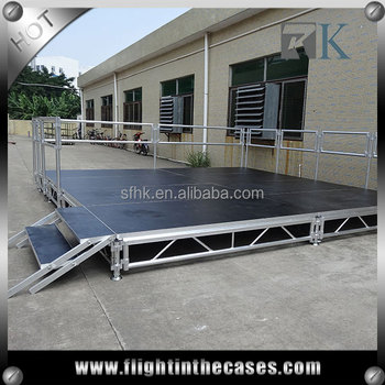 RK folding portable stage aluminum stage truss used portable stage for sale