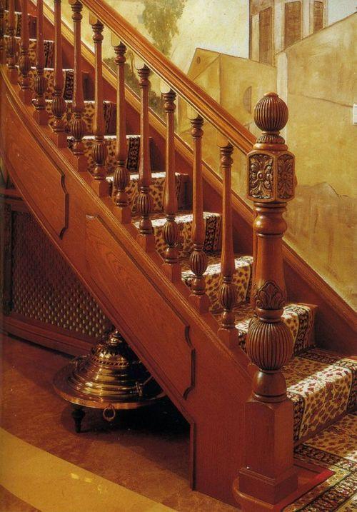 Red Oak Handrail Antique Aaa Grade Wood Newels
