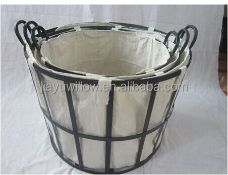 Handmade Wire Storage Basket With Cover Wire Laundry