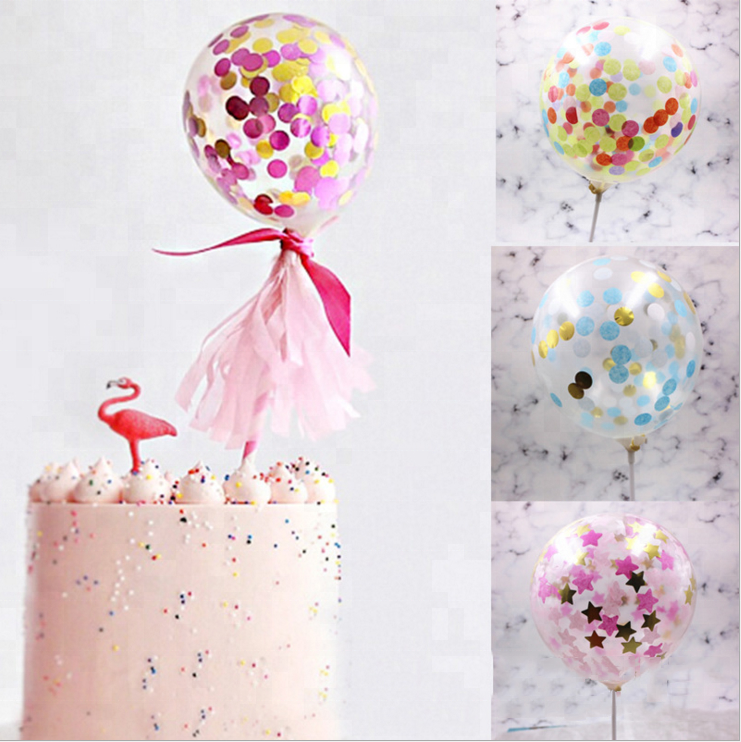 5 Inch Birthday Balloon Decoration Sets Cake Topper Balloons Buy