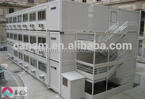 Prefab ecnomic steel camp container houses