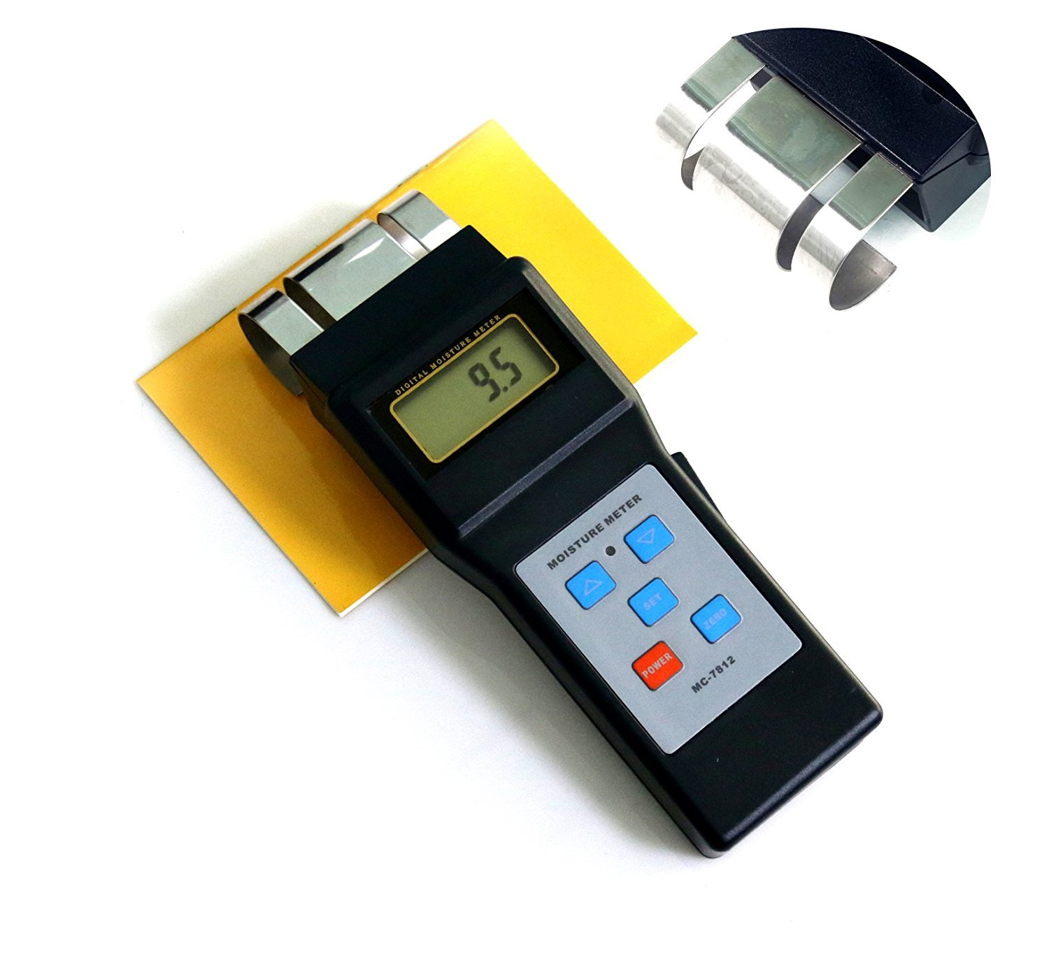 BYQTEC MC-7812 Digital Search Type Electromagnetic Induction Wood Moisture Meter with LCD Display
