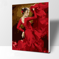 new design Beautiful dance girl paint DIY oil painting by numbers for living room wholesale price