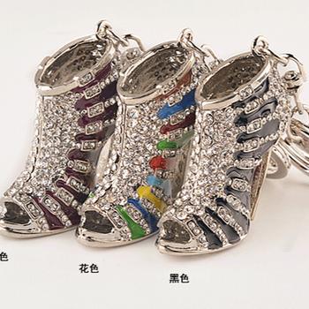 New High Heel Keychains Rhinestone Shoe Keyring charm Women Handbag key  holder 7c89bc8a73