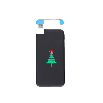 2018 New Christmas Ultra Thin Gift Design Logo Power Bank, Can Be Customized Logo