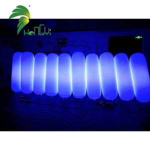 Tall Inflatable LED Column Custom Inflatable Color Changing Light Cylinder For Party