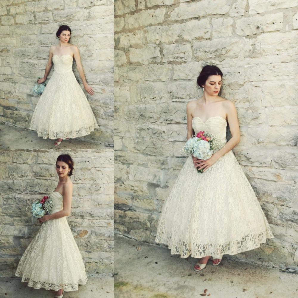 Vintage 1950s Ankle Length font b Wedding b font font b Dress b font font b - Bonny Wedding Dress