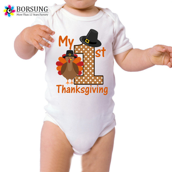 dfbebfd4a My 1st Thanksgiving Shirt, Newborn Baby's First Thanksgiving Outfit,Baby  Turkey Halloween Costume