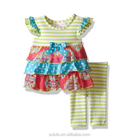 Summer spring cute new girls boutique clothing newborn baby clothes children girls popular clothing wholesale children clothing