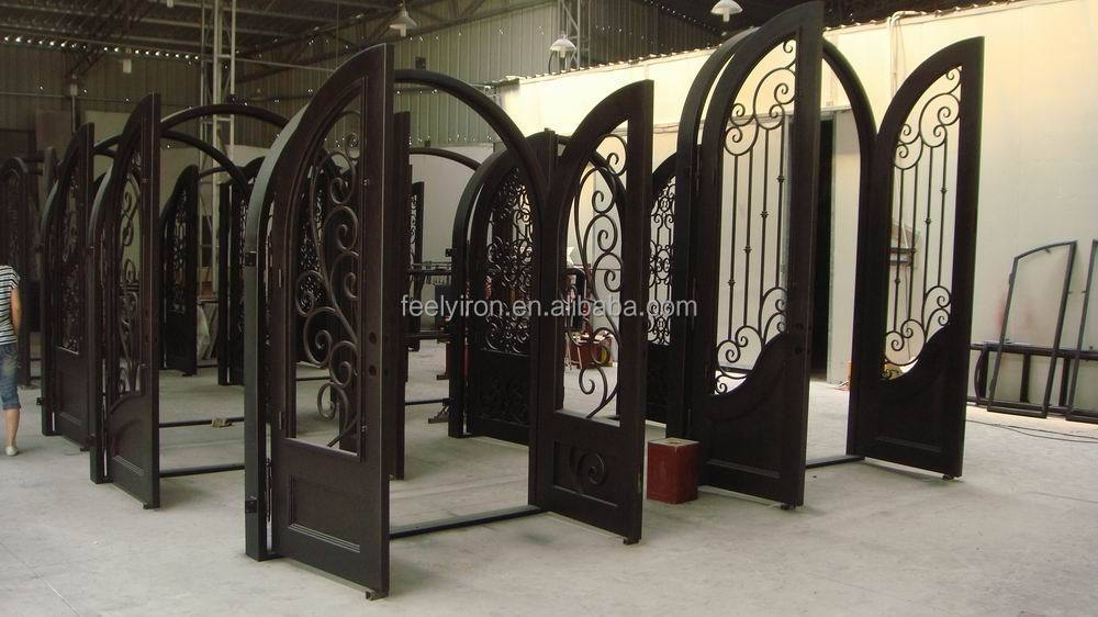 Artistic Wrought Iron Double Entry Door From Factory Fd 221 View