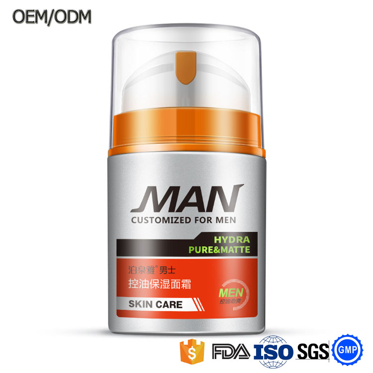 OEM/OBM BIOAOUA Men moisturizing Facial Cream For Dry Skin