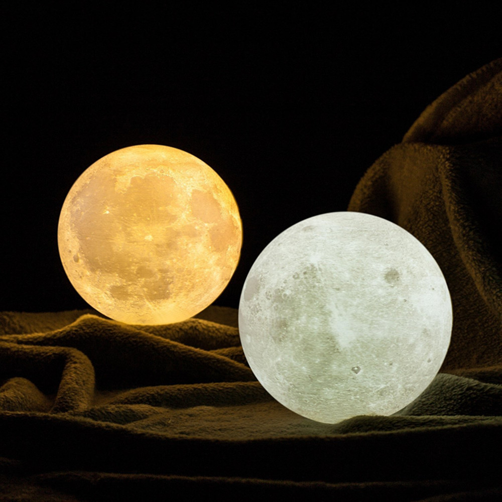 Touch Sensor Rechargeable Battery Powered Led Moon Lamp,Creative Gift Led 3D Night Light