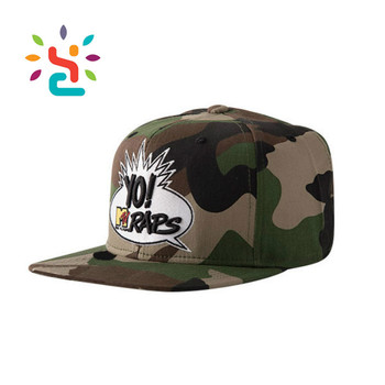 Custom Camo Snapback Hats Military Label Yo Raps Print Visor Flat Bill  Snapback Hats Gorro Embroidered 941402f9dfd