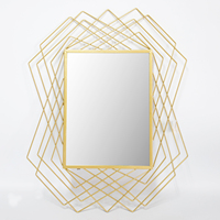 Holt Sale Golden Metal Icon Mirrors Decor Wall For Living Room Bathroom