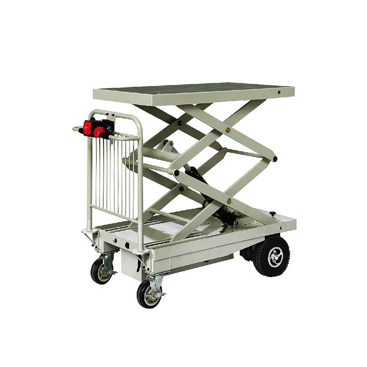 Electric hydraulic scissor lift platform table truck