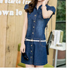 BHNB9828459 New Design fashion casual Demin dress with belt stock Available fashion wholesale clothing