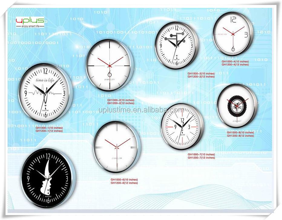 newly design dial round 12 inch wall clock for home decoration