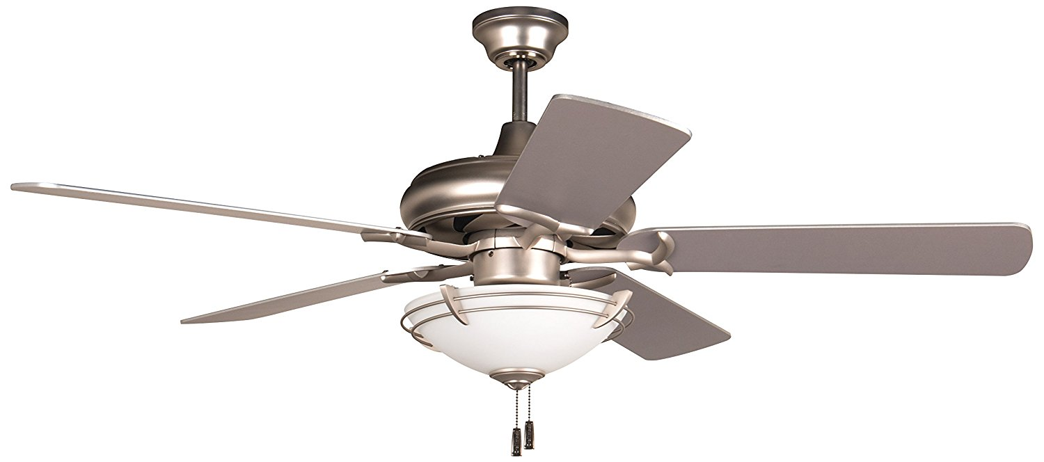 Get Quotations Craftmade K11213 Civic Ceiling Fan With Plus Series Brushed Nickel Blades And Opal Frost Light Kit
