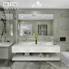luxury customized hotel home full set bathroom cabinet marble