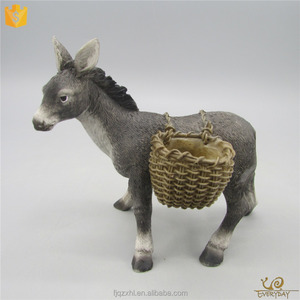 EV13583A Decorative Polyresin Farm Small Animal Burros Figurine Donkey Sculpture Gift