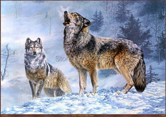 Modern Home Decor sitting room decorate Art Wall Picture HD Prints on Canvas Oil Painting Wolf (Solo Singer) 105