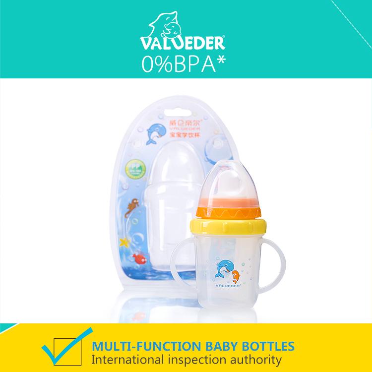 Valueder кормление чаша младенцы фляжка для воды с соска 3 к 6 месяцев дети в стаканы и бокалы питьевой фляжка для воды для детей