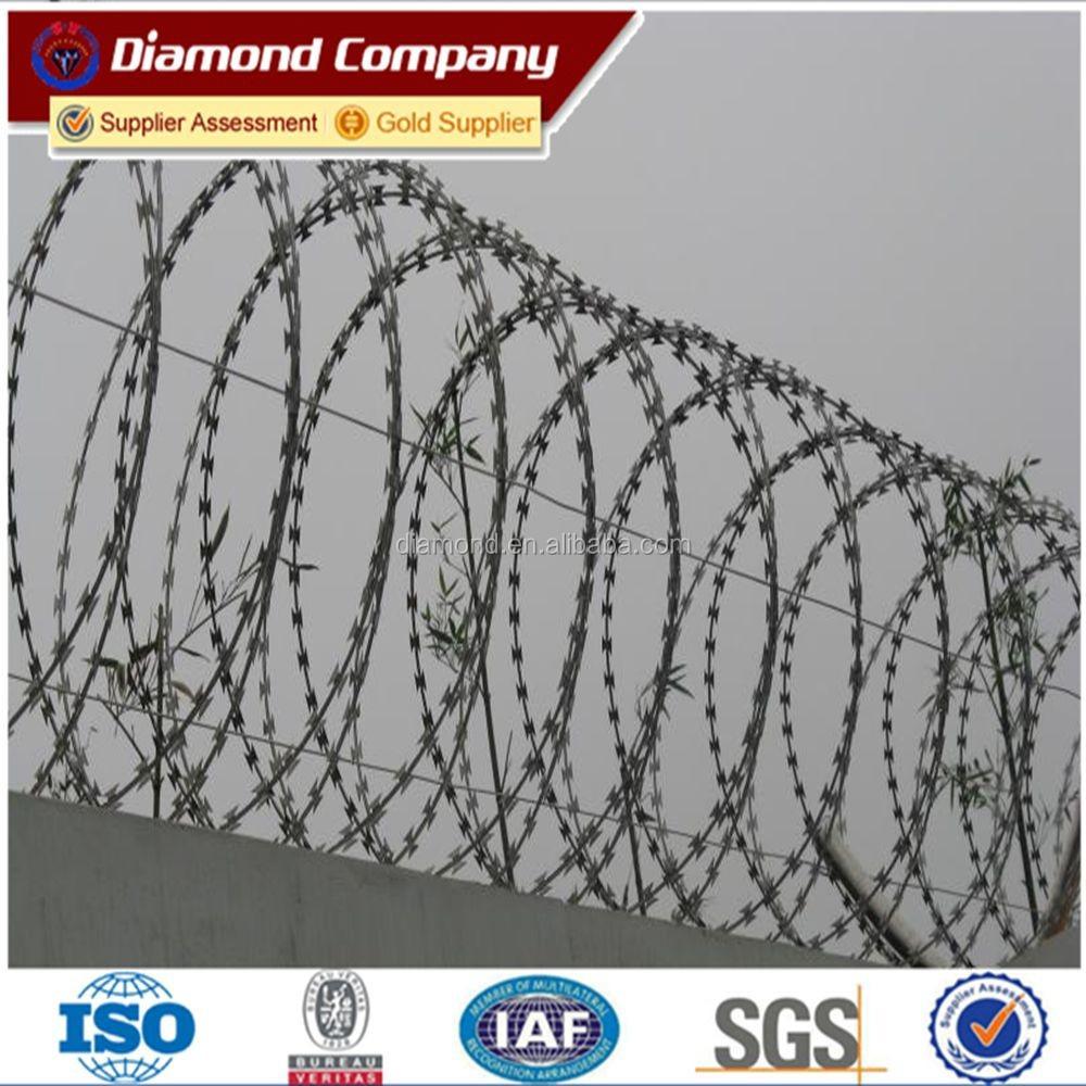 Razor Barbed Blade Concertina Wire Military Use/alibaba China ...