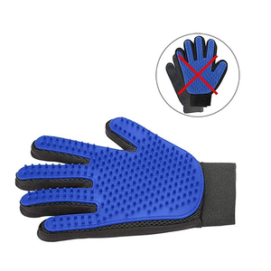 Pet Grooming Glove - Gentle Deshedding Brush Glove - Efficient Pet Hair Remover Mitt - Massage Tool with Enhanced Five Finger