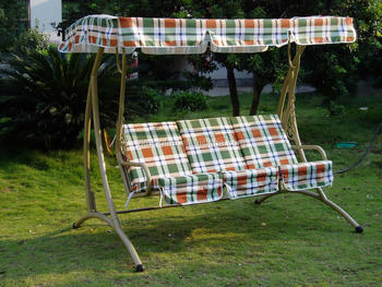 Garden Furniture Factory Direct 3 Seater Swing Seats With Cushions