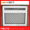 cheap price aluminum fixed window with stainless steel security mesh