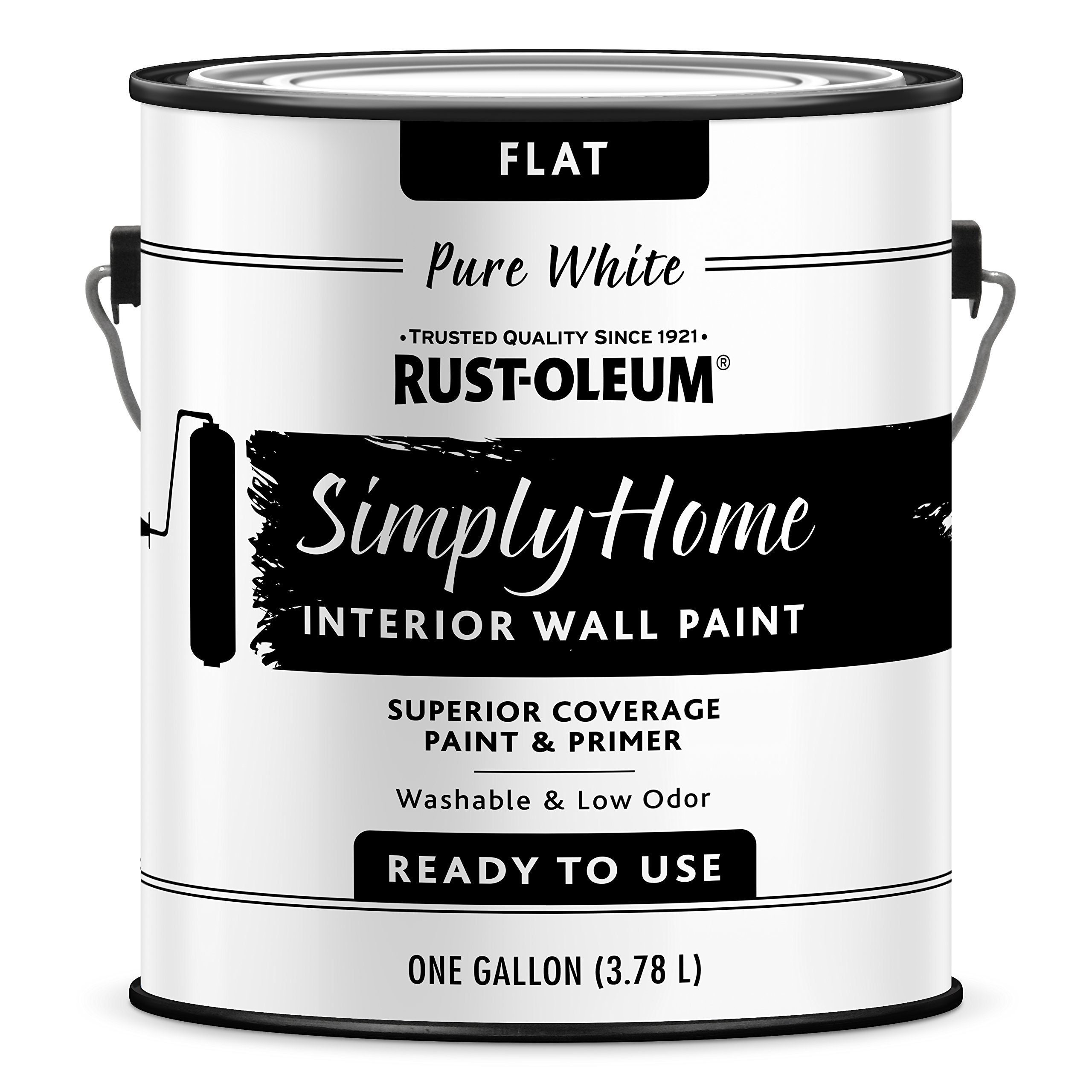 Get Quotations · Rust Oleum 332119 2PK Simply Home Interior Wall Paint,  Gallon, Flat Pure