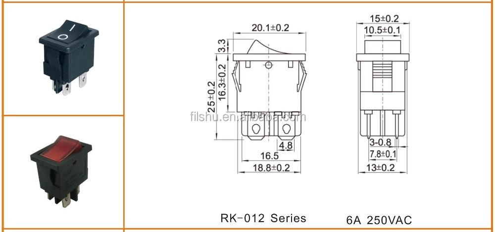 4 Pin Illuminated On/off Rocker Switch On Wire - Buy 4 Pin Illuminated Toggle Wiring Diagram Switch Pin Illuminated on