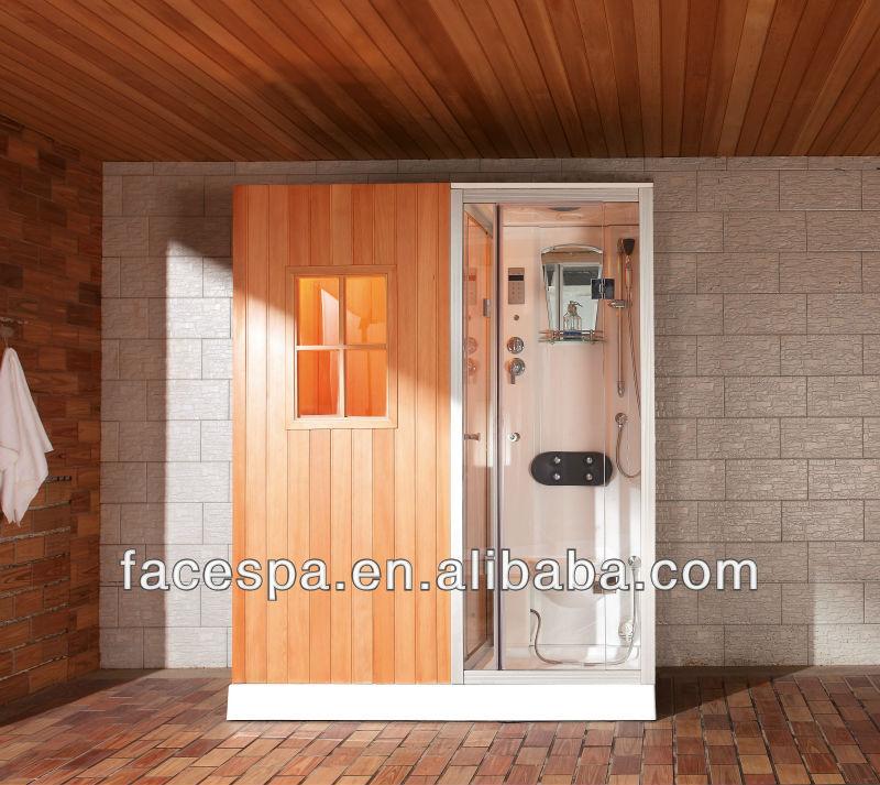 nass trocken dampf sauna und dampfbad dusche kombination f r eine person saunazimmer produkt id. Black Bedroom Furniture Sets. Home Design Ideas