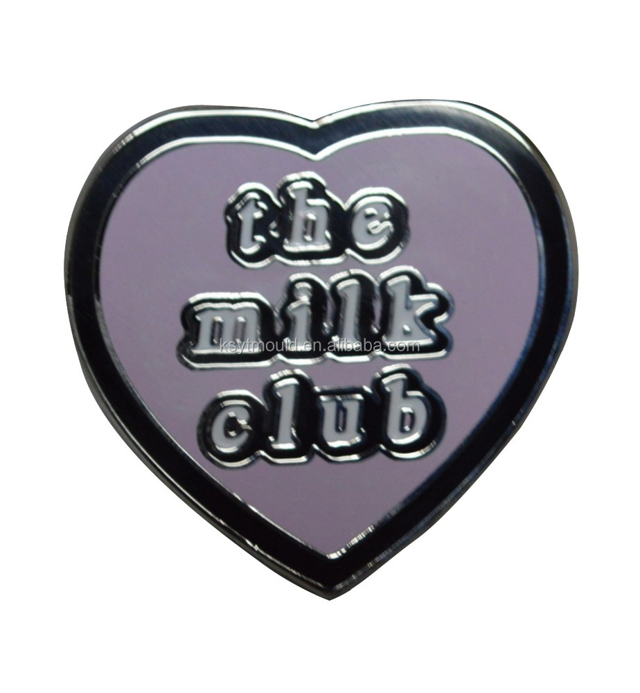 Custom factory offer enamel metal heart shaped lapel pins