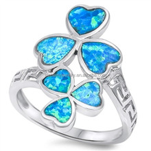 unique 925 sterling silver jewelry flower cz opal rings