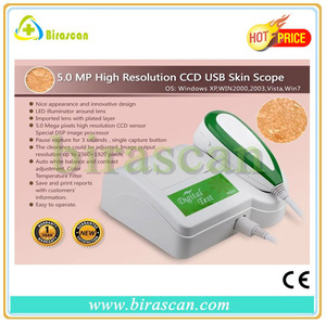 5.0 mp high resolution ccd usb Skin Scanner Diagnosis Analyzer/detector Skin Scope