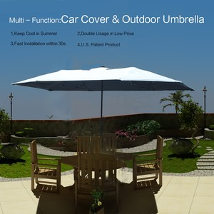 SUNCLOSE Factory car electronic roof top bed revresible kazbrella umbrella