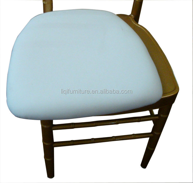 Removable upholstered hard viny seat cushion for chiavari chair napoleon chair event chair